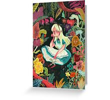Alice in Wonder Greeting Card