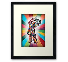 New York's Colorful Kiss in 1945 Framed Print