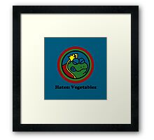 Hates: Vegetables Framed Print