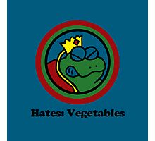 Hates: Vegetables Photographic Print