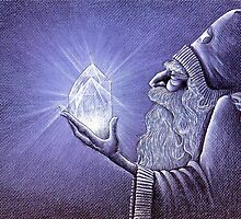 """THE CRYSTAL WIZARD"" by artist ED GEDROSE by Ed Gedrose"