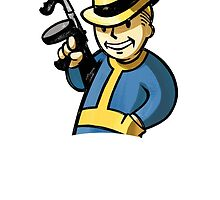 Vault Boy Tommy Gun - Fallout 3/NV by Jonald