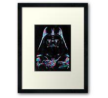 Neon Vader Framed Print
