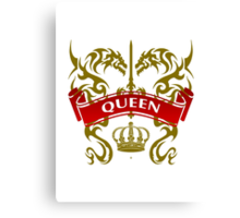 Fit For A Queen Coat-of-Arms Canvas Print
