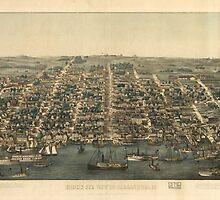Vintage Pictorial Map of Alexandria VA (1863) by BravuraMedia