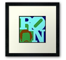 Ron Love (b) (Anchorman) Framed Print