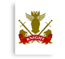 Fit For A Knight Coat-of-Arms Canvas Print