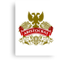 Fit For An Aristocrat Coat-of-Arms Canvas Print