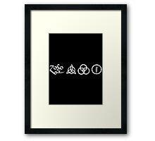 Led Zeppelin - Symbols Framed Print