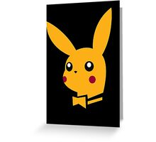 playboy pikachu Greeting Card