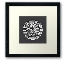 Photo circle Framed Print