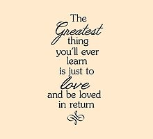 The greatest thing... by Holly Newsome