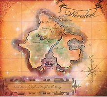 Neverland Map Blanket Full Color King Size by Sophie Green
