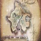Twin size Classic Neverland Map by Sophie Green