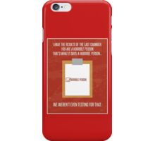 Aperture Science Portal Horrible Person iPhone Case/Skin
