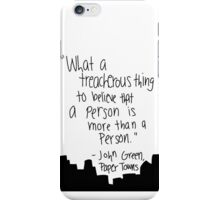 PT - To Believe a person is more than a person iPhone Case/Skin