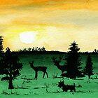 Scottie Dog 'Woodland Walk' watercolour by archyscottie