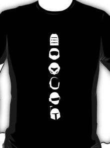 Silhouette Heroes - Vertical White T-Shirt