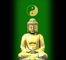 Buddha and Yin Yang green iPhone / iPod cases by Steve Crompton