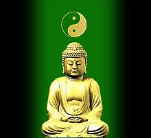 Buddha and Yin Yang green iPhone / iPod cases by Steve Crompton