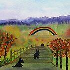 Scottie Dog 'Crossing The Bridge' by archyscottie