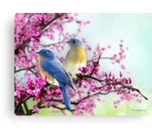 Sweet Bluebirds Metal Print