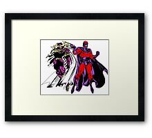 Exodus and Magneto Framed Print