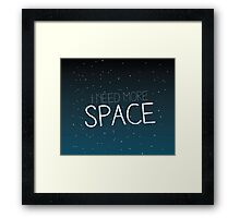I need more space on starfield Framed Print