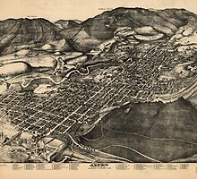 Vintage Pictorial Map of Aspen Colorado (1893) by BravuraMedia