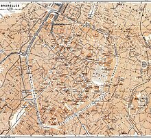Vintage Map of Brussels (1905) by BravuraMedia