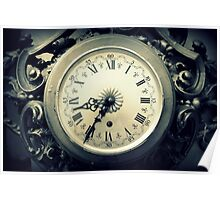 old wall clock Poster