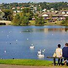 Llanelli lake by missmoneypenny