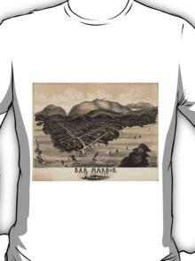 Vintage Pictorial Map of Bar Harbor (1886) T-Shirt