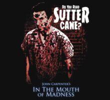 Sutter Cane John Carpenter Horror Movie T-Shirt by OutlawOutfitter