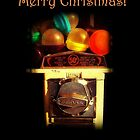 Merry Christmas - Christmas Holiday Card - Gumballs by Miriam Danar