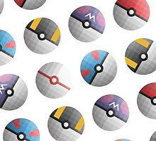 PokéBall Pattern by Daniel Keane