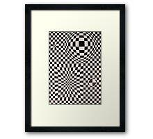 Vasarely: Black & White Framed Print