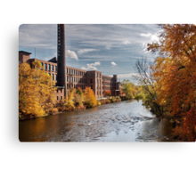 Ashton Mills (in Autumn) Canvas Print