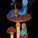 Hookah Smoking Catterpillar  by Octavio Velazquez