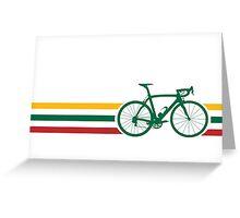 Bike Stripes Lithuanian National Road Race v2 Greeting Card