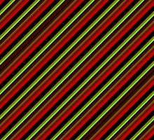 Green, Red and Black Striped by melangetulsa