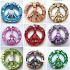 Summer of Peace - Colorful Mosaic Peace Signs by Jeanine Molnar
