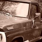 Abandoned Truck - Sepia Tone Photograph  by Jeanine Molnar