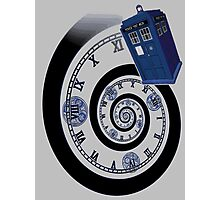 The Twelfth Doctor - time spiral (no white outline) Photographic Print