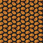 Spooky Halloween Pumpkin Pattern II by Lisa Marie Robinson