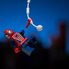 Lego Spiderman by Kevin  Poulton - aka 'Sad Old Biker'