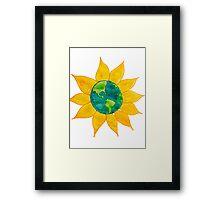 Watercolor Earth Flower Framed Print