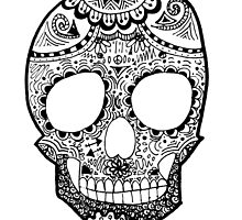 Zentangle Hipster Skull by alexavec