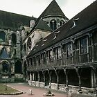 Library at rear of Cathedral Noyons France 198405080037 by Fred Mitchell