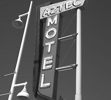 Route 66 - Aztec Motel by Frank Romeo
